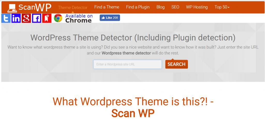 Scan WP es una herramienta para saber cómo está hecha una web