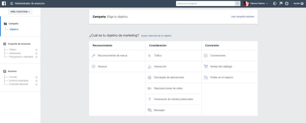 administrador de anuncios de facebook ads