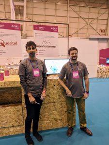 Enric Isern y Joaquín Almendro de Monitorizeme exponiendo en el Web Summit 2018