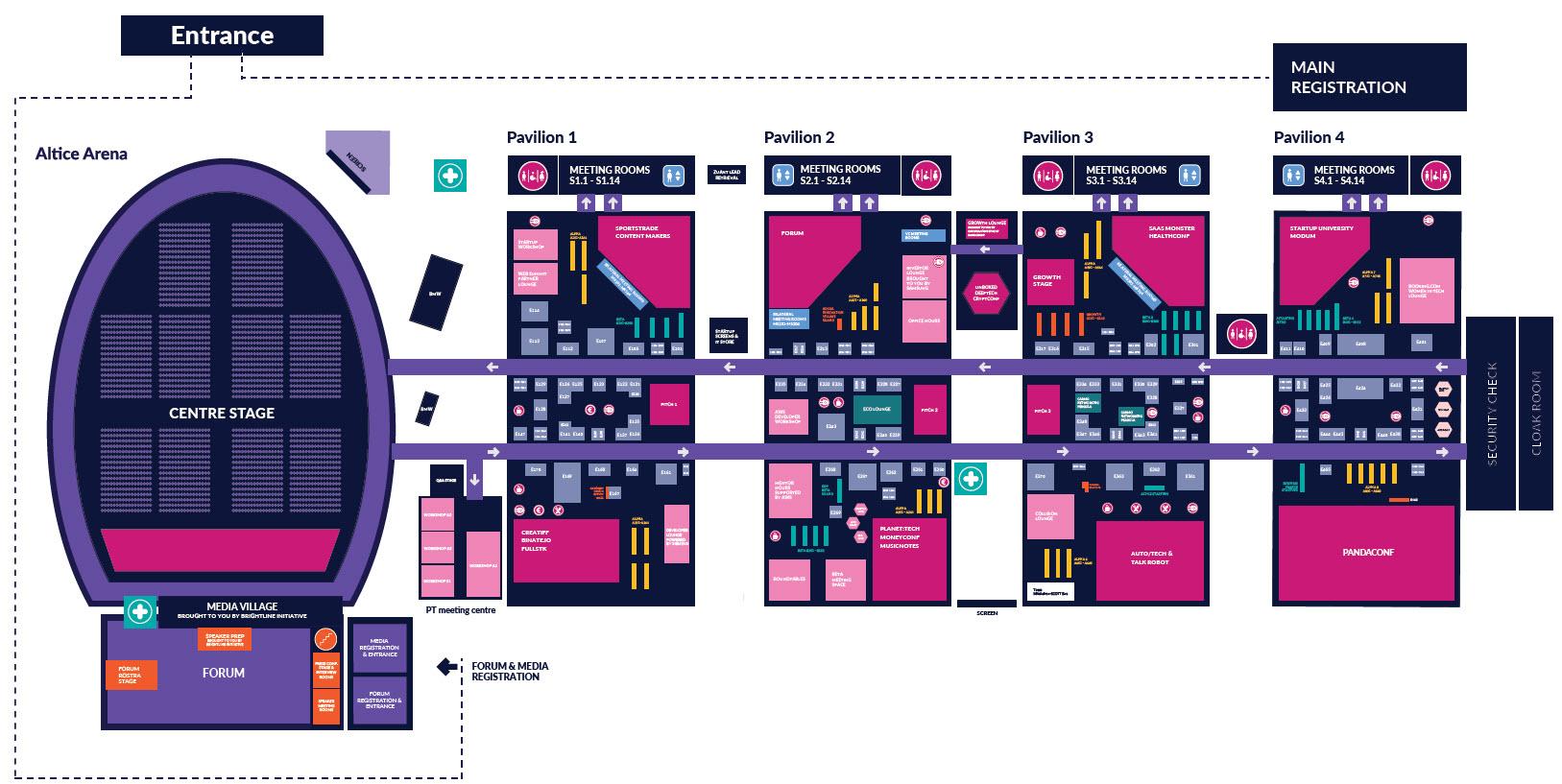 Mapa Web Summit